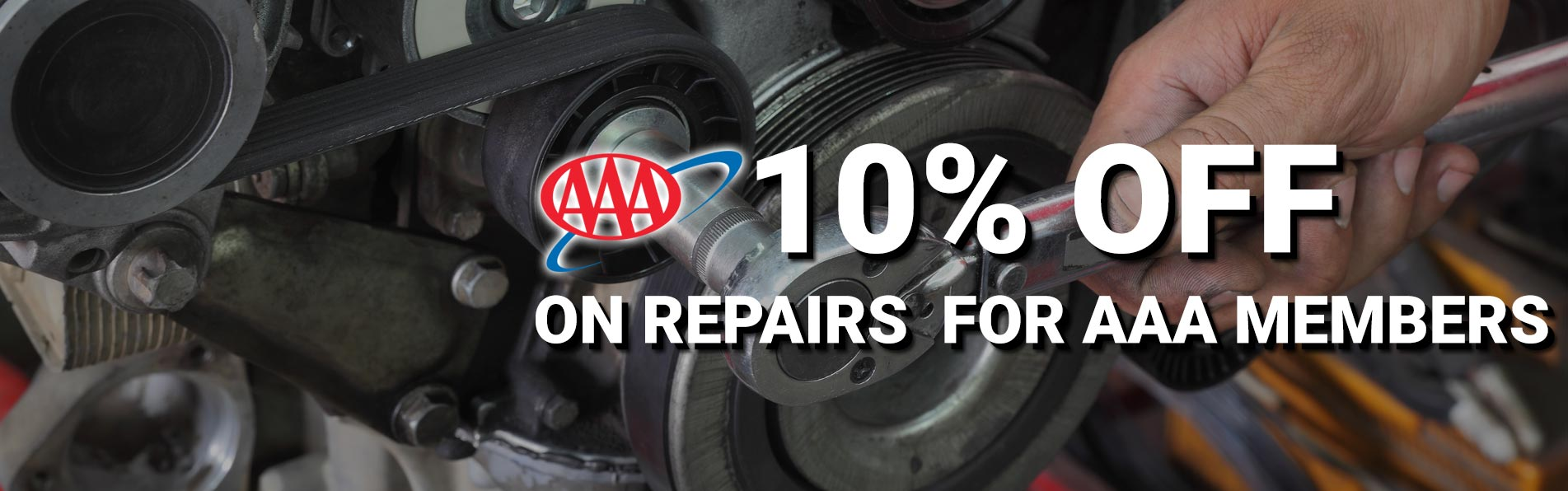 10% off on repairs for AAA Members